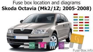 fuse box location and diagrams: skoda octavia (mk2/1z; 2005-2008) - youtube  youtube