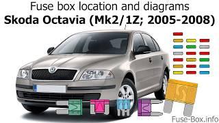 [SCHEMATICS_48ZD]  Fuse box location and diagrams: Skoda Octavia (Mk2/1Z; 2005-2008) - YouTube | Wiring Diagram Skoda Octavia 2005 |  | YouTube