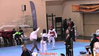 5043) 46kg Seyda Selcuk vs Gizem Okatar (2016 Turkish Junior TKD championships)