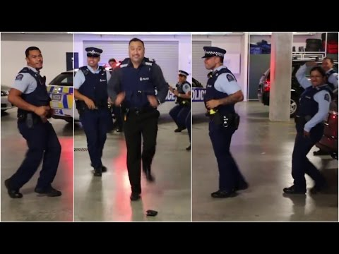New Zealand police take up 'running man challenge' in viral video