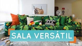Sala de estar versátil | Antes e Depois | Decora | Maurício Arruda