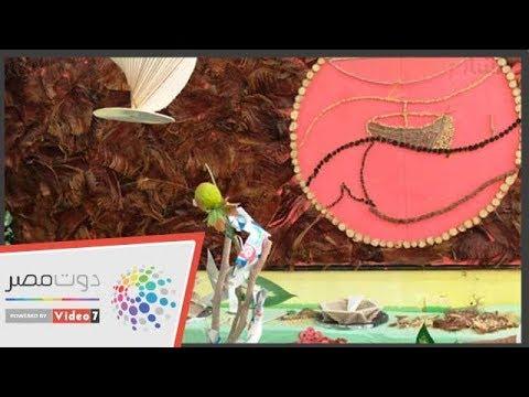 الكرنافة لوحة فنية أبدعها طلاب المدرسة الفكرية بالعريش  - 15:54-2019 / 1 / 14