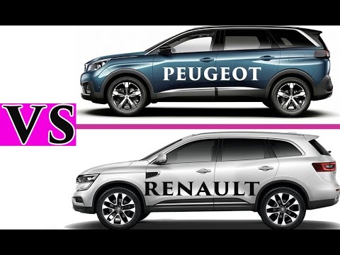peugeot 5008 vs renault koleos 2017 comparatif hd avec tous les d tails autoreduc tv youtube. Black Bedroom Furniture Sets. Home Design Ideas
