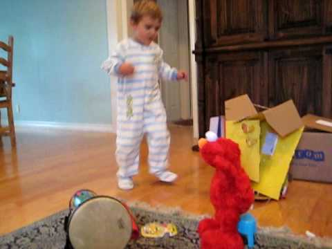JacksonG dancing with Elmo live doll