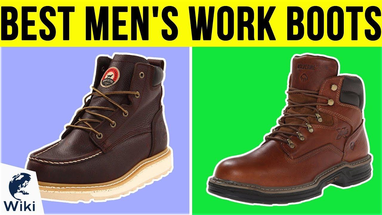 10 Best Men's Work Boots 2019 - YouTube