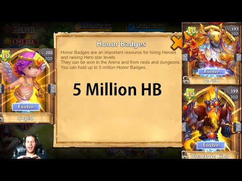 Capped At 5,000,000 Honor Badges Double Evolving Heroes Castle Clash
