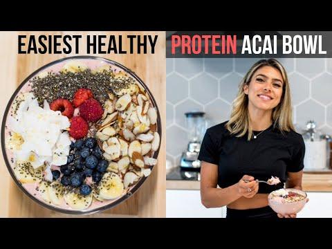 Easy 3 Min Healthy Acai Protein Bowl!