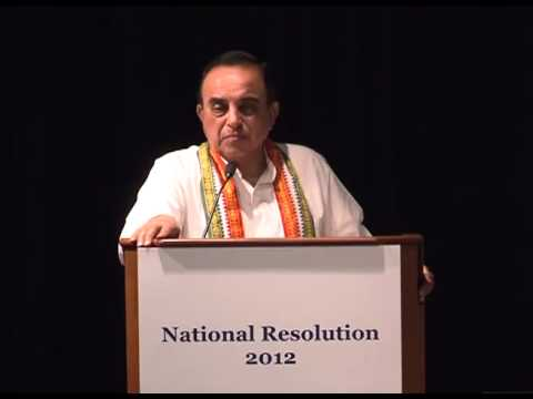 Dr Subramanian Swamy in National Resolution 2012 by CARRIED on Communal Violence Bill