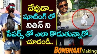 Nithin Bombhaat Song Making Video || Lie Movie Making Videos || 2017