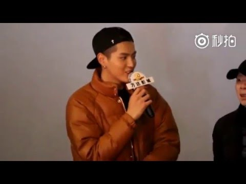 151227 Kris Wu Yi Fan speaks in Korean to fans from Korea (eng trans)
