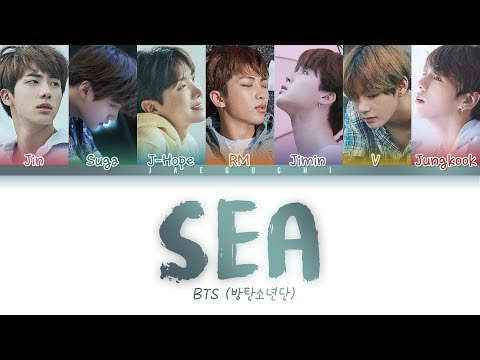 BTS - SEA (바다) (Color Coded Lyrics Eng/Rom/Han)
