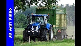 New Holland T7.260 + T7030   Grass silage   Gras inkuilen   Lozeman Raalte   Krone   2019