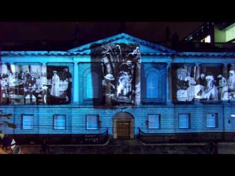 RCSI spectacular outdoor 3D animation show - Open House Dublin 2016