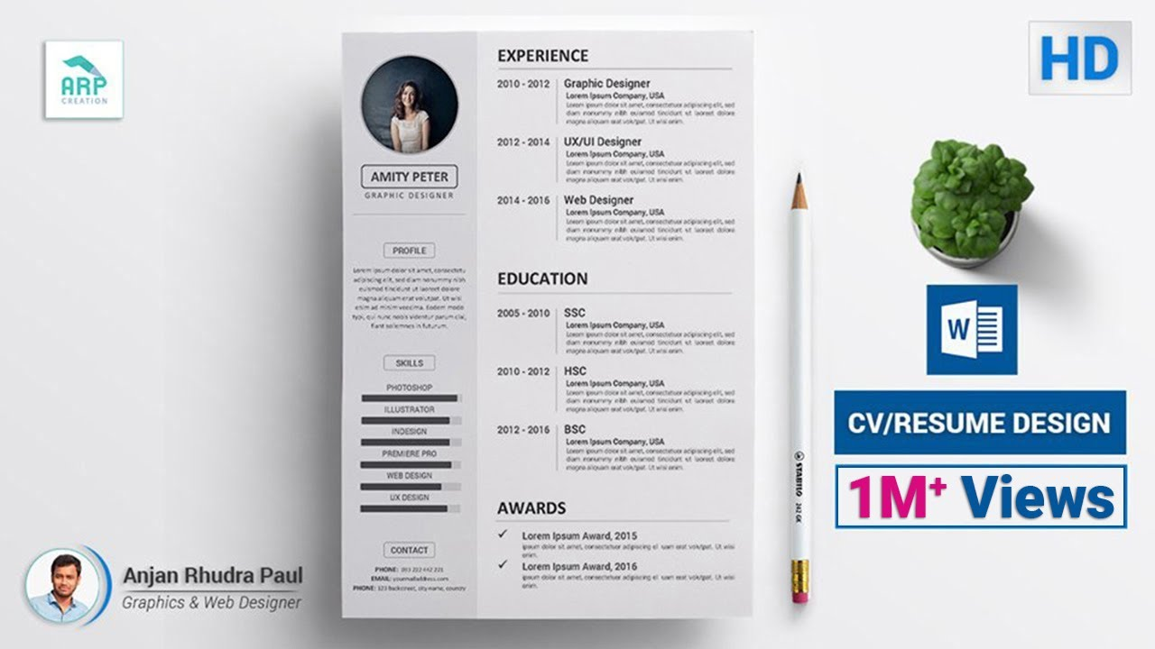 how to create a cv  resume template in microsoft word docx