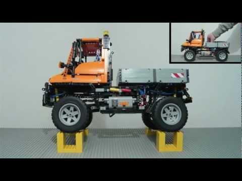 LEGO Technic 8110 Mercedes Benz Unimog U-400 / built in stop - motion /  Unimog Museum