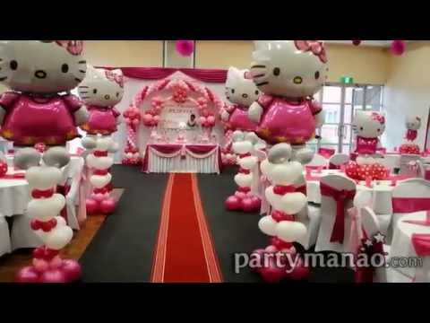 hello kitty birthday party theme ideas youtube. Black Bedroom Furniture Sets. Home Design Ideas