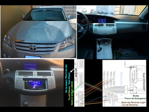 wiring diagram car 1w blue laser toyota avalon 2004-2010 aftermarket stereo installation dual xdvd236bt and review - youtube