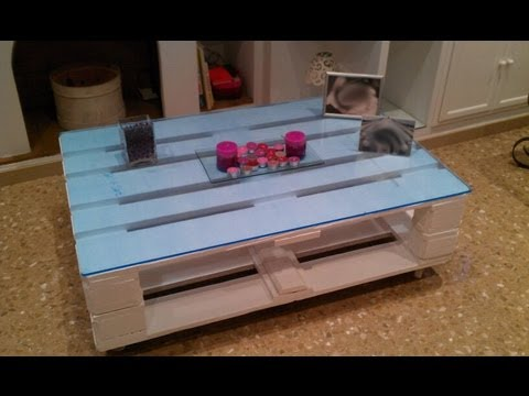 como hacer una mesa con palets how to do a table with pallet