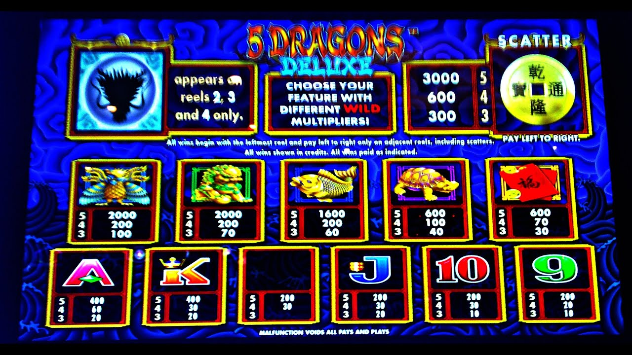 dragon deluxe slot machine