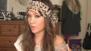 How To Tie a Easy BOHO Head Scarf Tutorial