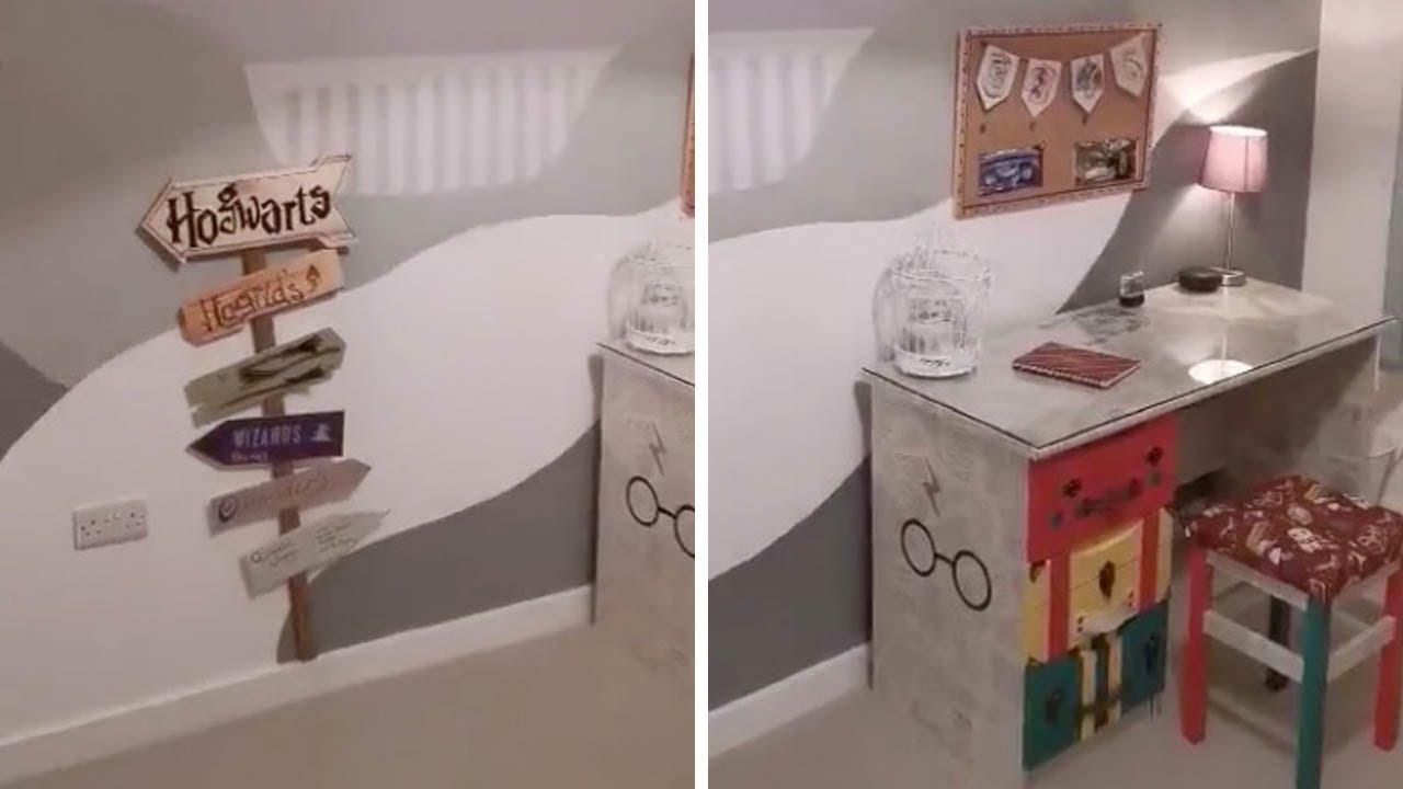Amazing Diy Harry Potter Bedroom Youtube