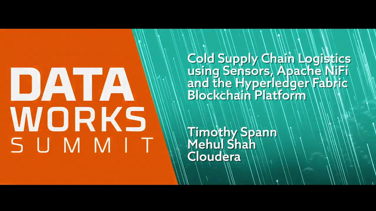 Cold Supply Chain Logistics using Sensors, Apache NiFi and the