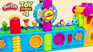 Disney Pixar Toy Story 4 Friends Visit the Play Doh Magic Mega Fun Factory for Surprise Toys!