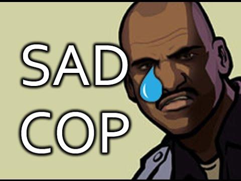 Sad cop