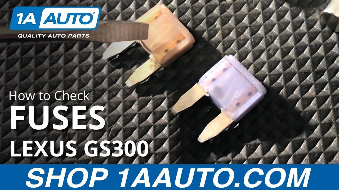 2003 lexus gs300 fuse box how to check fuses 97 05 lexus gs300 youtube  how to check fuses 97 05 lexus gs300