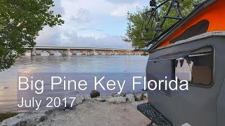 Camping with the Cricket at Big Pine Key Florida  July 2017