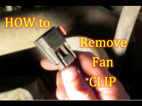 remove radiator fan clip dodge caravan grand