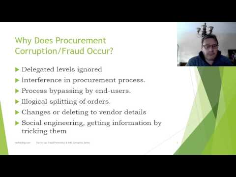 Fraud and Corruption Issues in Public Procurement, Video 1