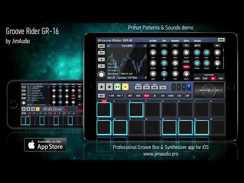 Groove Rider GR-16 for iOS : patterns & sounds preview