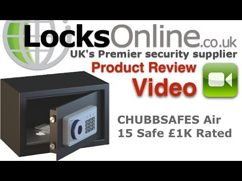 Chubb Air 15K Key Operated Free Standing Safe    LocksOnline Product Reviews
