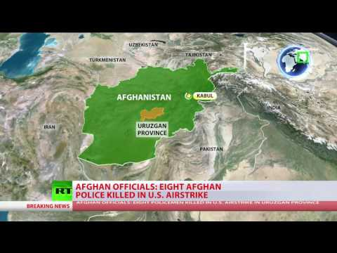 US airstrikes kill up to 8 policemen in Afghanistan – officials