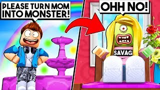 My Child Made A Wish Turning Me Into A Monster! (Roblox)