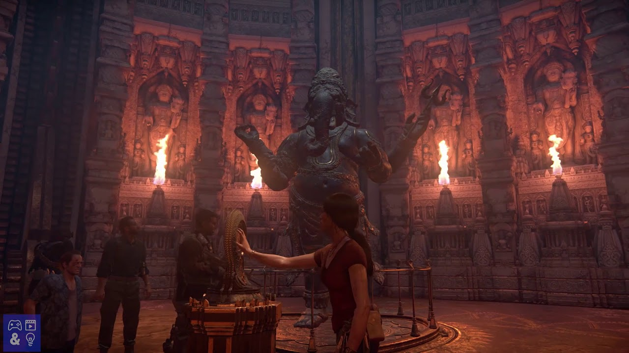 Uncharted The Lost Legacy Guide Gameplay Solve Final Ganesh Puzzle Youtube