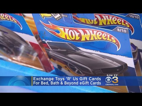 Exchange Toys 'R' Us Gift Cards For Bed, Bath & Beyond EGift Cards