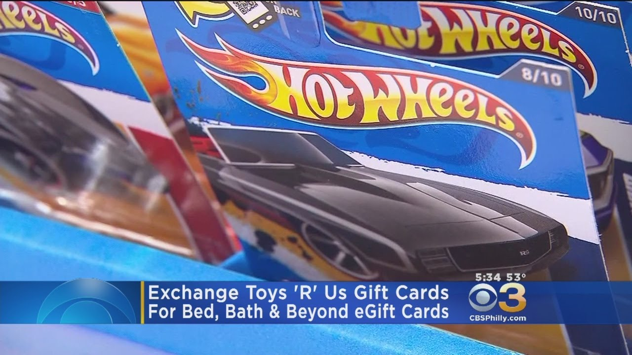 Exchange Toys \'R\' Us Gift Cards For Bed, Bath & Beyond eGift Cards ...