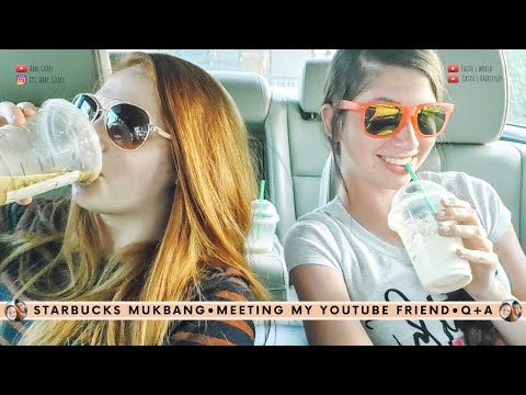 Starbucks Mukbang| Meeting A Fellow YouTuber!?| Ft. Faith's World
