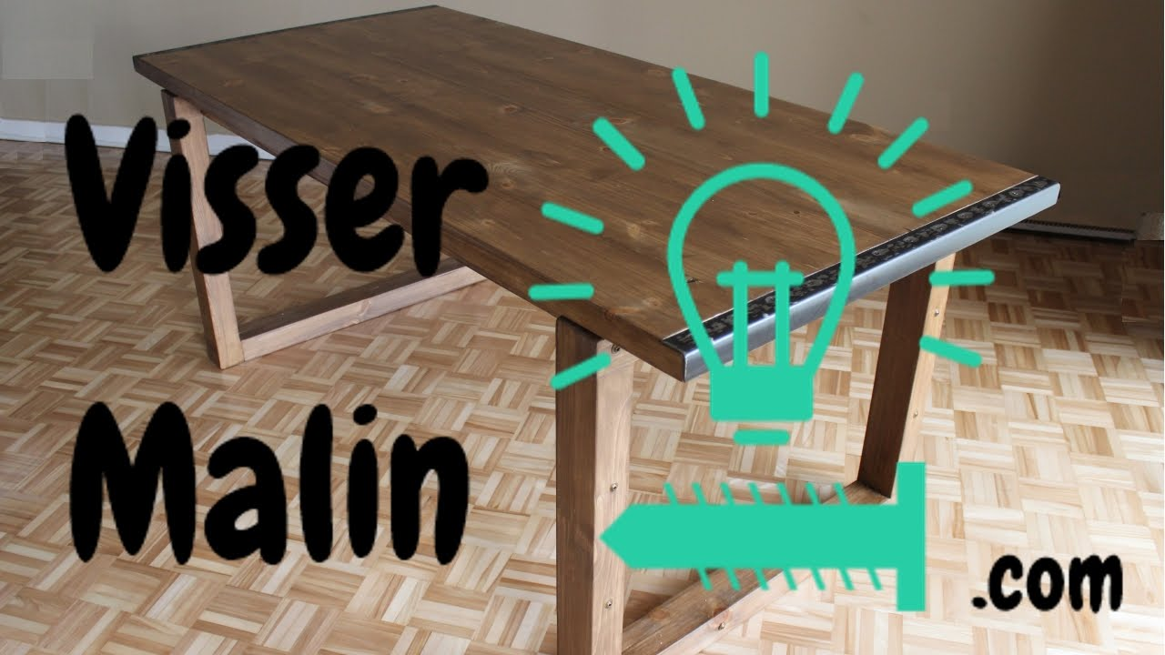 Comment faire une table manger ep10 youtube - Fabriquer pied de table ...