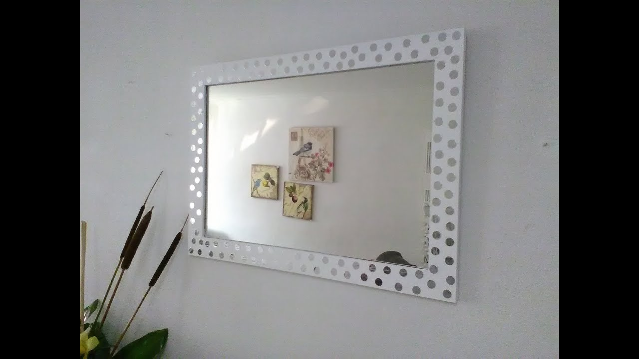 Diy como transformar un espejo de simple a espectacular for Espejos grandes de pared vintage