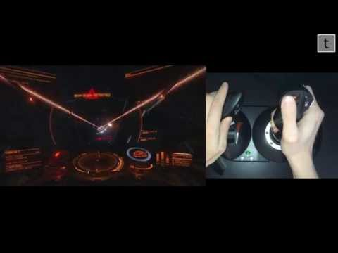 Thrustmaster T-Flight Hotas X Elite Dangerous side by side - raw footage