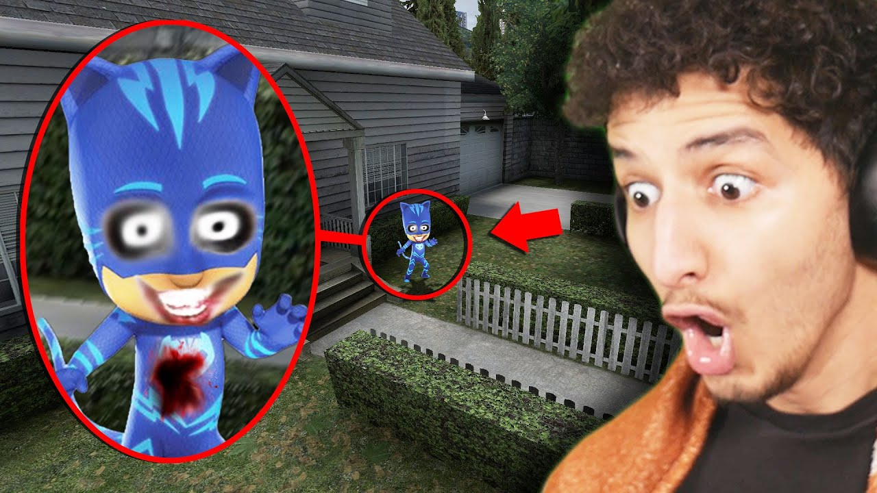 If You See CURSED PJ MASKS Outside Your House, RUN AWAY FAST!!