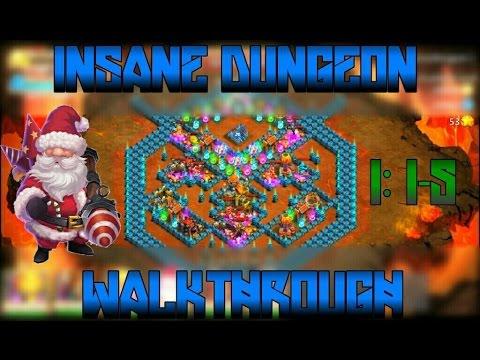 Castle Clash: Insane Dungeon 1 1-5 | Walkthrough