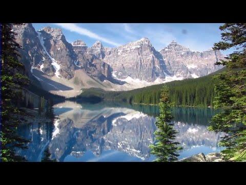 VIRTUAL HIKE #1B: Moraine Lake (actual sound) Banff National Park, Alberta, Canada