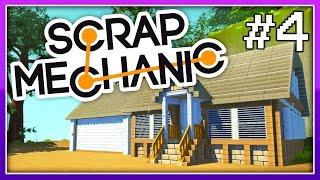 scrap mechanic our beautiful home and functional garage door ep 4 let s play scrap mechanic