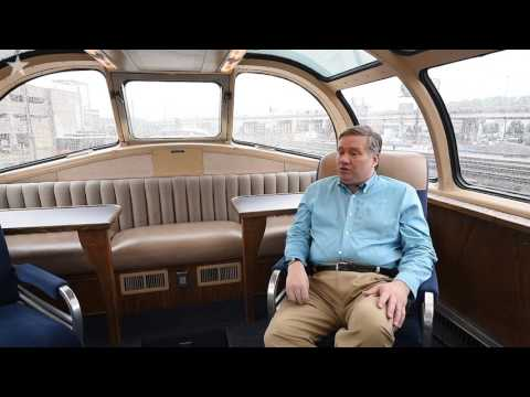 Vintage railroad cars roll into Union Station