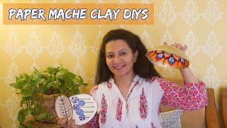 Paper Mache Clay Recipe &amp DIYs  Paper Mache Mask Fridge Magnet &amp Trinket Tray