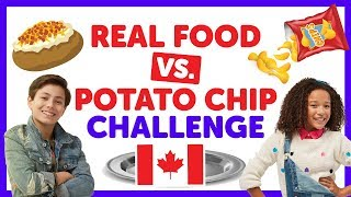 Canadian Real Food vs Potato Chip Challenge with Shane & Ahnya from The KIDZ BOP Kids